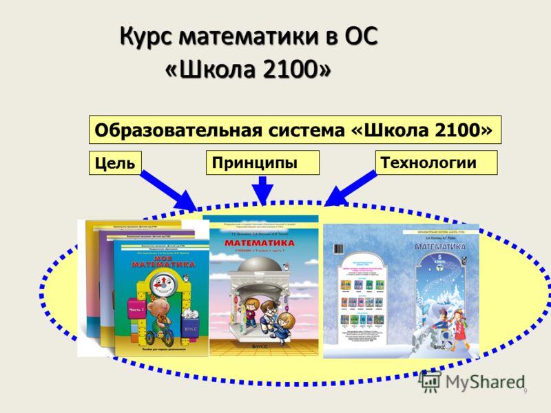 9 Курс математики в ОС «Школа 2100» Образовательная система «Школа 2100» Цель ПринципыТехнологии