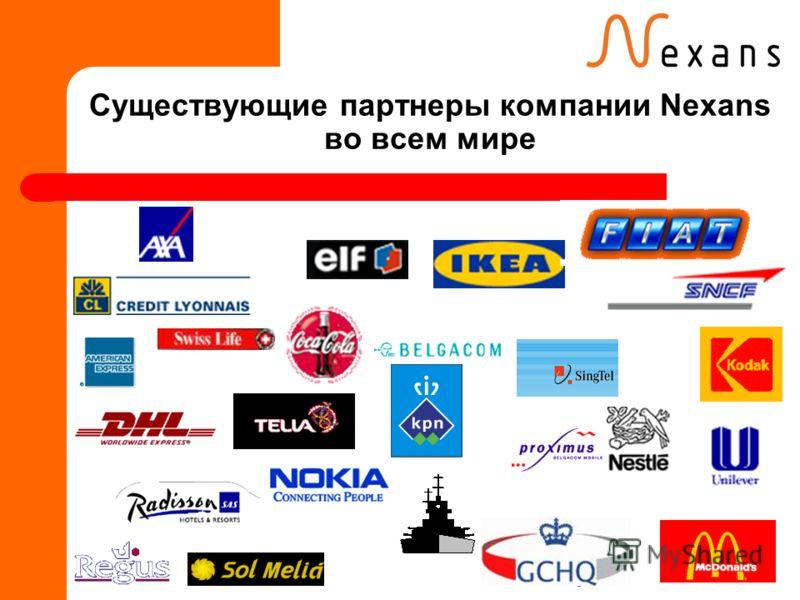 Существующие партнеры компании Nexans во всем мире