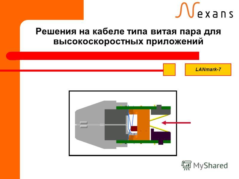 Решения на кабеле типа витая пара для высокоскоростных приложений LANmark-7