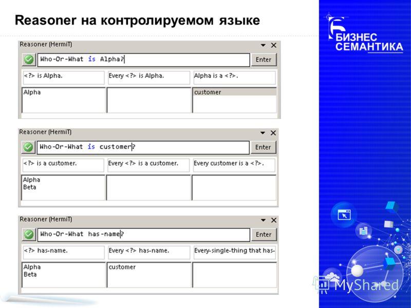 Reasoner на контролируемом языке