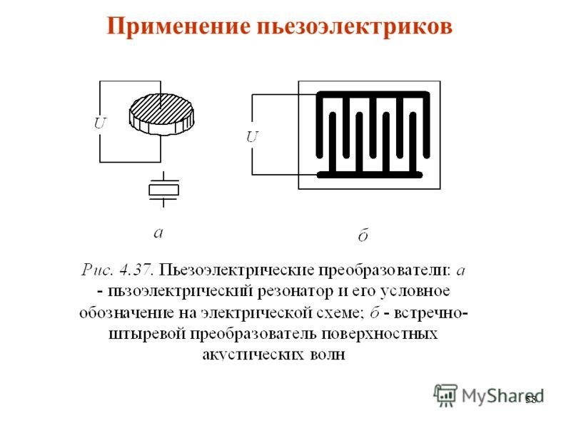 58 Применение пьезоэлектриков