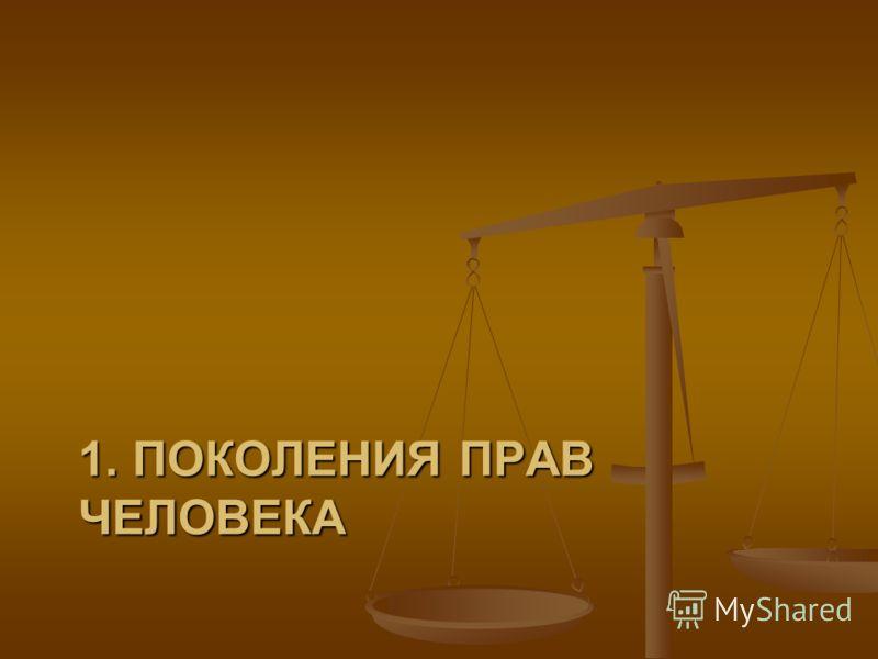 Структура лекции 1. Поколения прав человека 1. Поколения прав человека 2. Права человека как фактор мировой политики 2. Права человека как фактор мировой политики 3. Концепция прав человека: некоторые проблемы 3. Концепция прав человека: некоторые пр