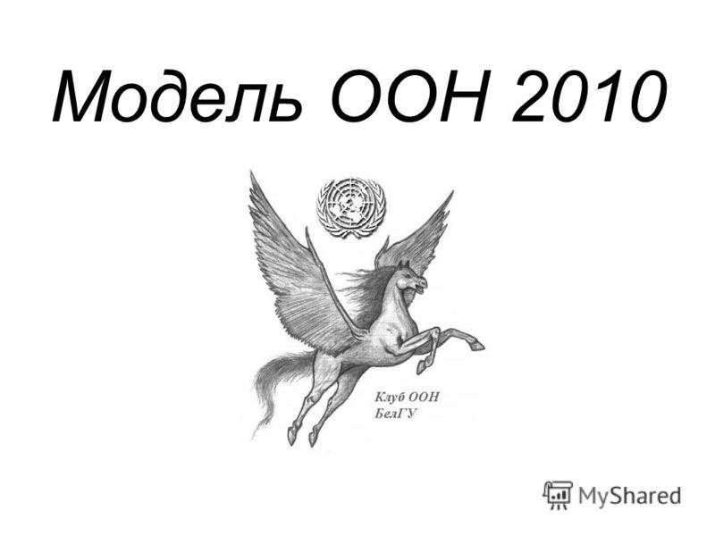 Модель ООН 2010