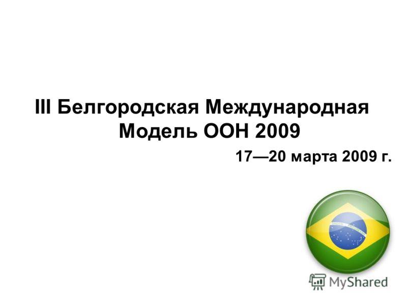 III Белгородская Международная Модель ООН 2009 1720 марта 2009 г.