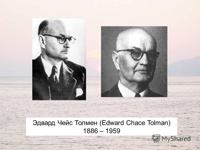 Эдвард Чейс Толмен (Edward Chace Tolman) 1886 – 1959