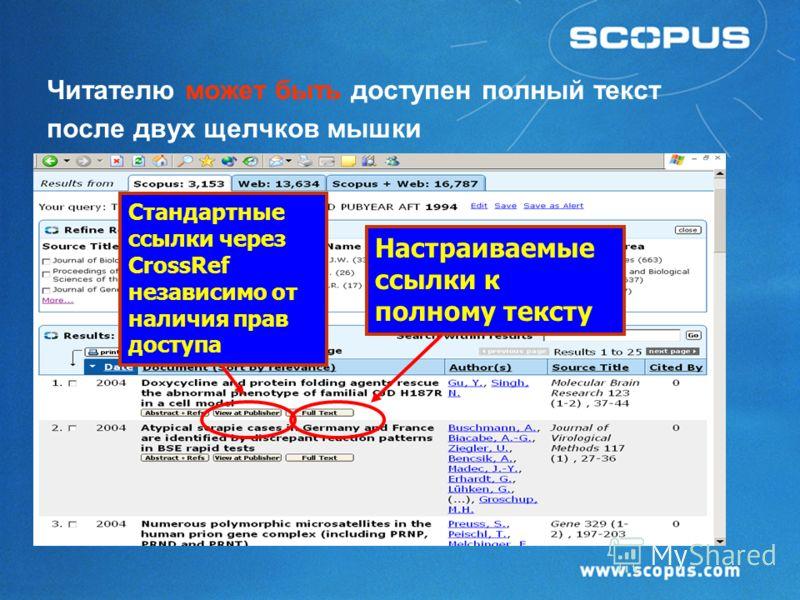 Scopus : результаты поиска (функция сортировки) Различные релевантные поиску ссылки