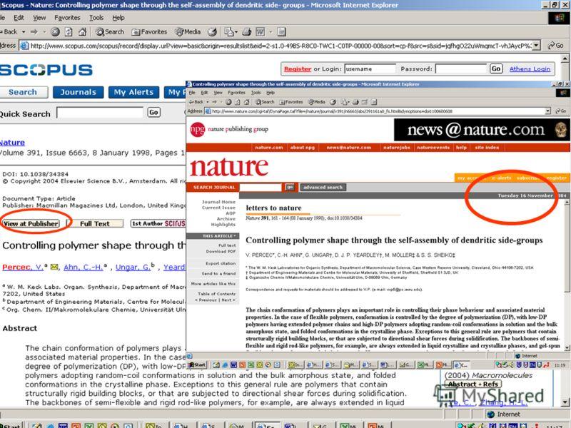 Scopus (функция сортировки покажите мне самую цитируюмую статью… Сортировка по цитированию