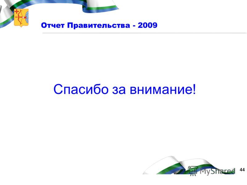 44 Отчет Правительства - 2009 Спасибо за внимание!