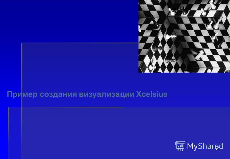 61 Пример создания визуализации Xcelsius