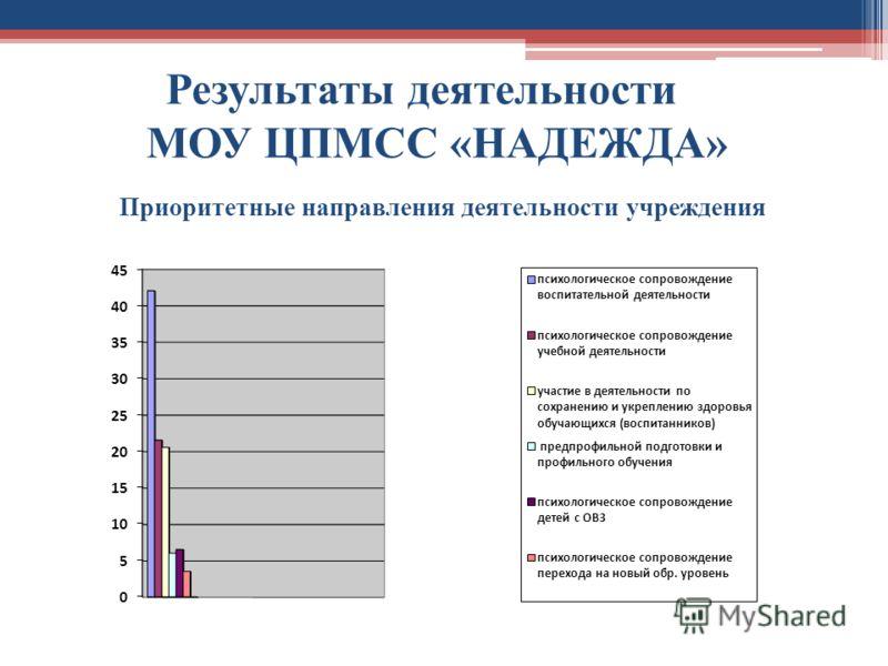 Приоритетные направления деятельности учреждения