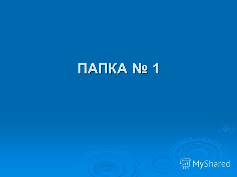 ПАПКА 1