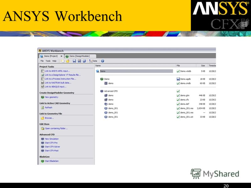 20 ANSYS Workbench