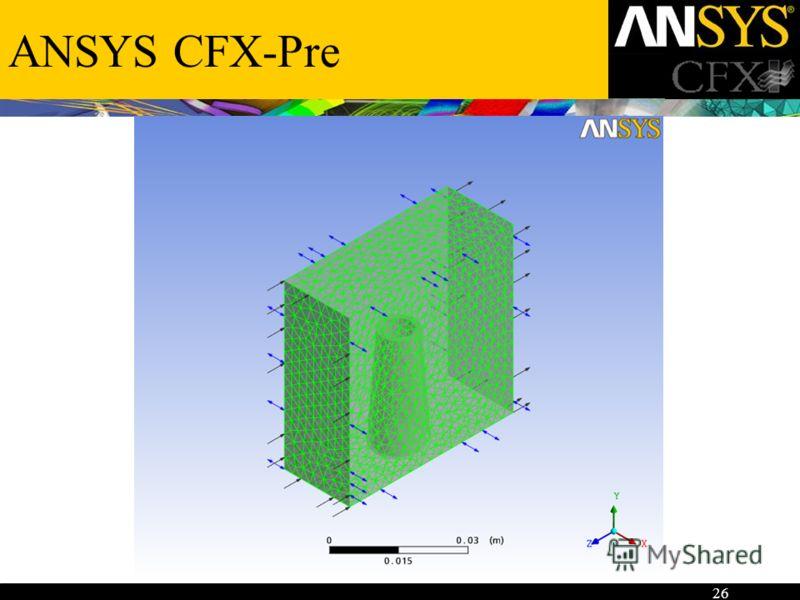 26 ANSYS CFX-Pre