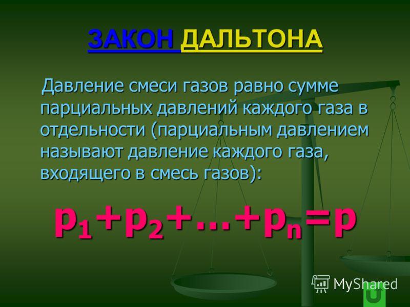 ЗАКОН АВОГАДРО АВОГАДРО При равных давлениях и температуре в одинаковых объёмах любых газов содержится одинаковое число молекул. При равных давлениях и температуре в одинаковых объёмах любых газов содержится одинаковое число молекул.p=nkT