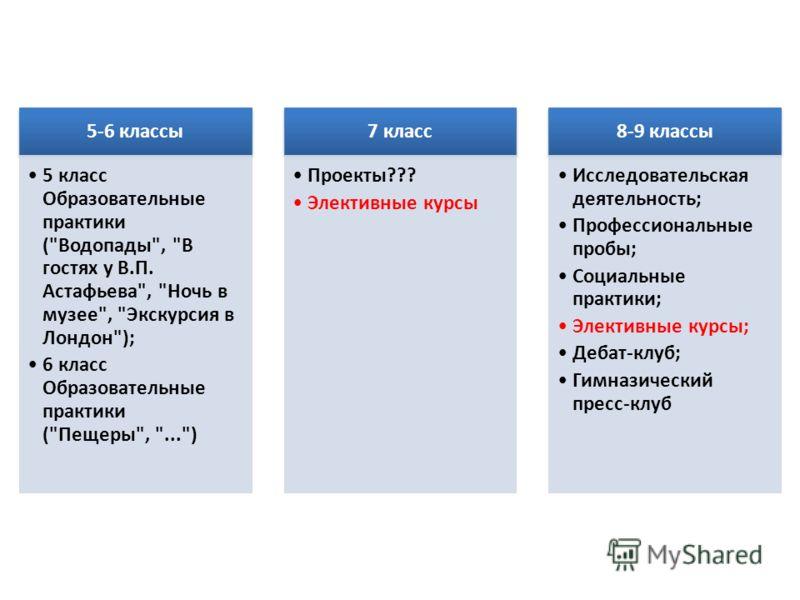 5-6 классы 5 класс Образовательные практики (