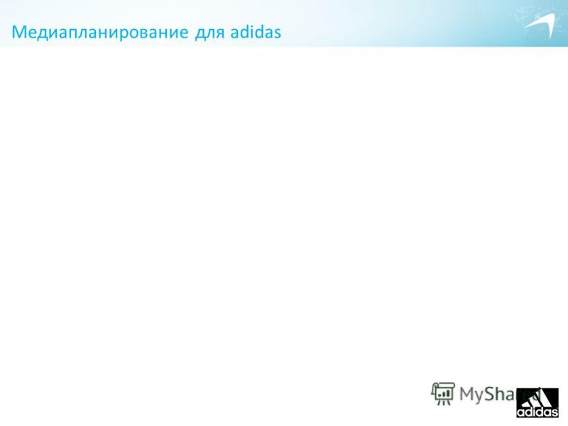 Медиапланирование для adidas