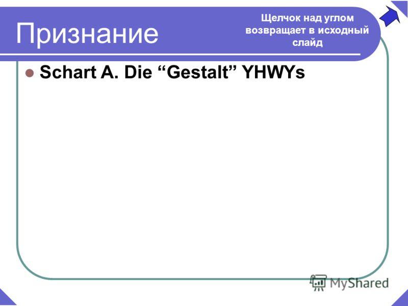Признание Schart A. Die Gestalt YHWYs Щелчок над углом возвращает в исходный слайд