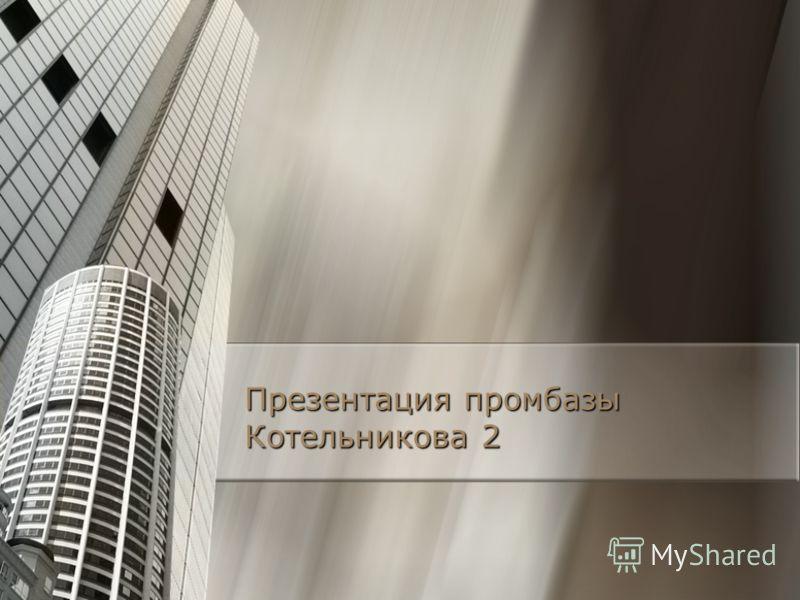 Презентация промбазы Котельникова 2