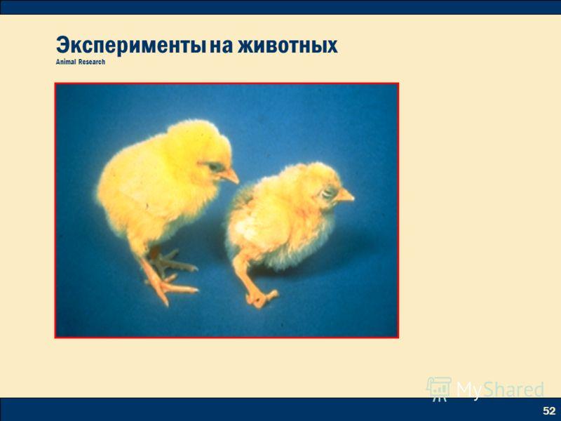 52 Эксперименты на животных Animal Research