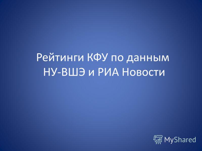 Рейтинги КФУ по данным НУ-ВШЭ и РИА Новости