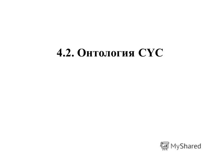 4.2. Онтология CYC