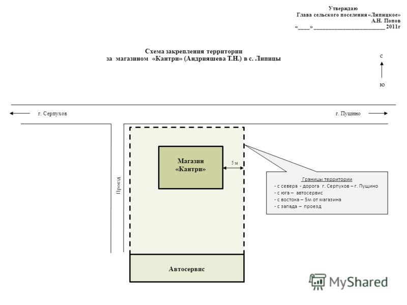 Схема закрепления территории
