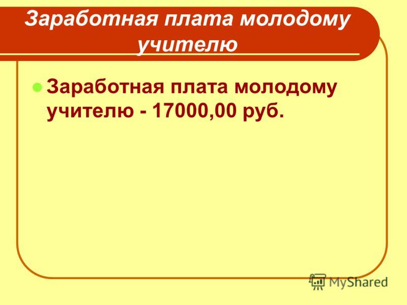 Заработная плата молодому учителю Заработная плата молодому учителю - 17000,00 руб.