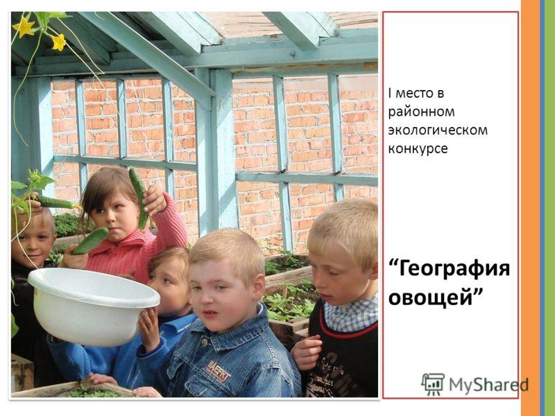 I место в районном экологическом конкурсе География овощей