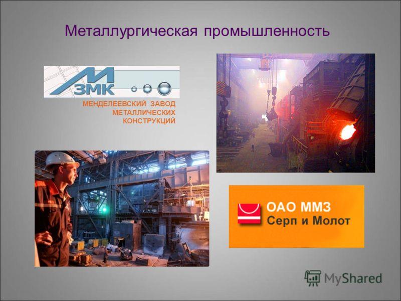 Металлургическая промышленность МЕНДЕЛЕЕВСКИЙ ЗАВОД МЕТАЛЛИЧЕСКИХ КОНСТРУКЦИЙ