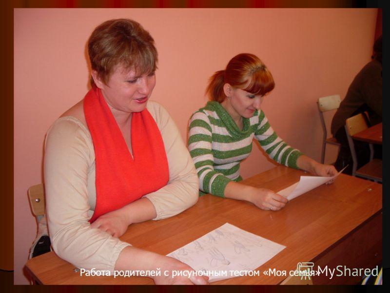 Работа родителей с рисуночным тестом «Моя семья»