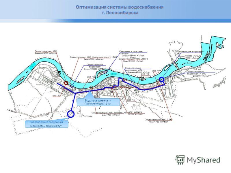 Page 4 Водозаборные сооружения Мощность – 4000 м3/сут. Сметная стоимость 122,6 млн. руб.. Магистральный водовод 7,6 км. 5,27 км. 6,5 км. 6,7 км. Сметная стоимость строительства водопроводных сетей: 1)I очередь- 72 млн. руб.; 2)II очередь- 220 млн. ру