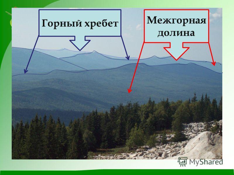 Горный хребет Межгорная долина