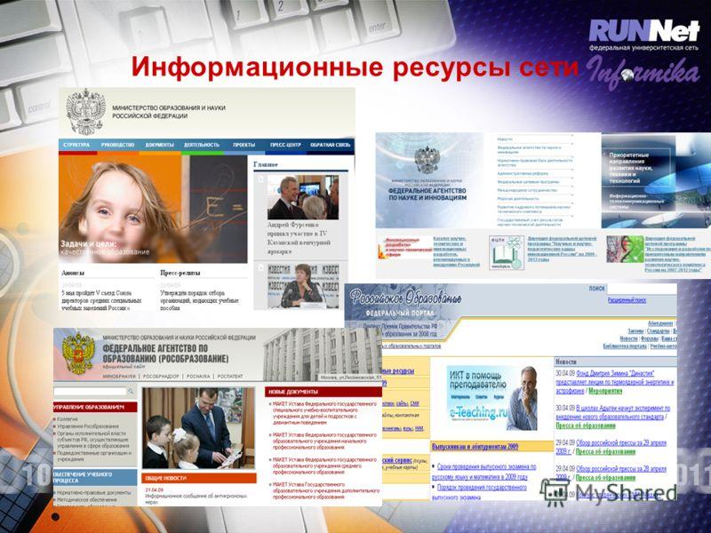 Информационные ресурсы сети