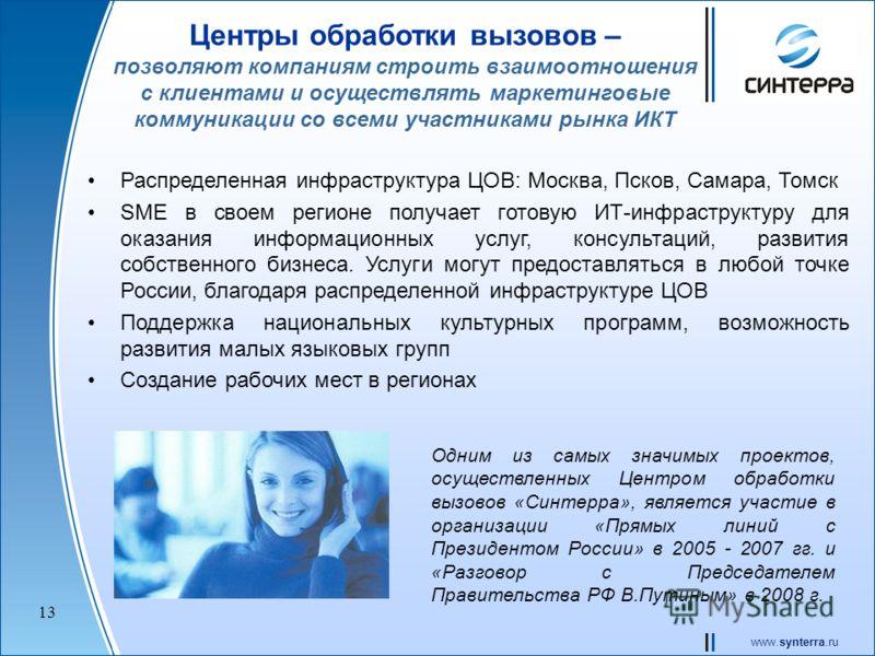 www.synterra.ru 12 ЦОД В Москве