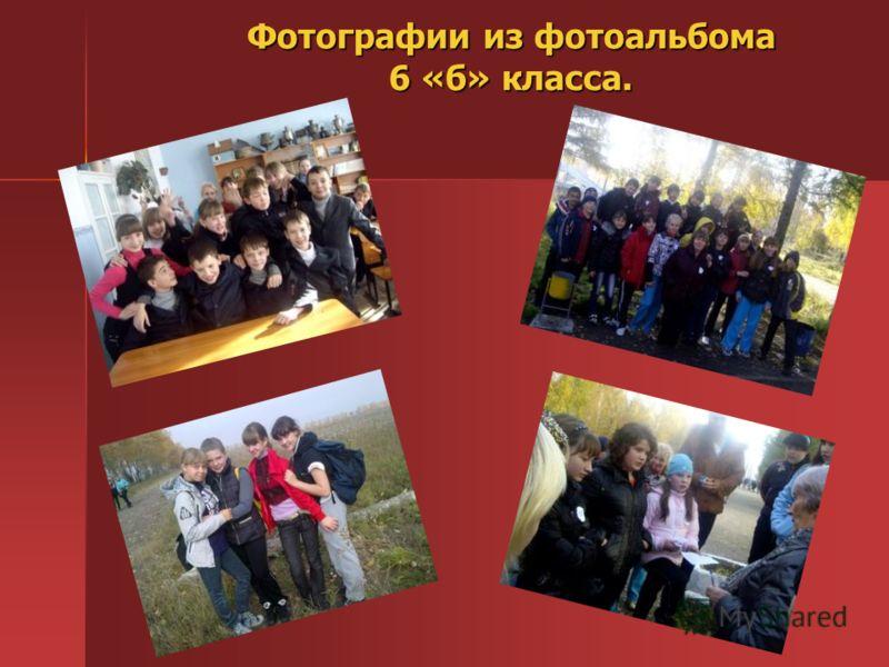 Фотографии из фотоальбома 6 «б» класса.