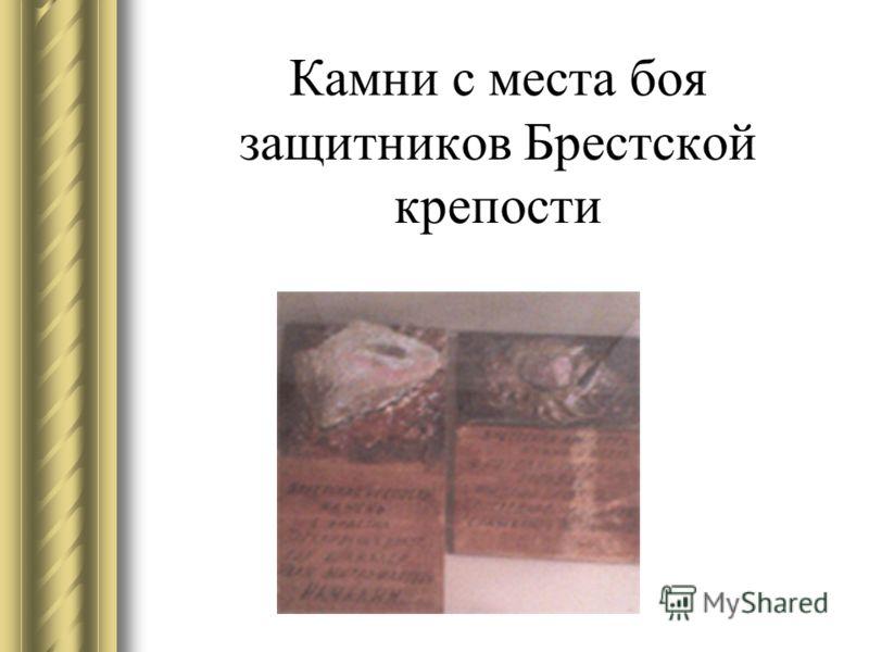 Камни с места боя защитников Брестской крепости
