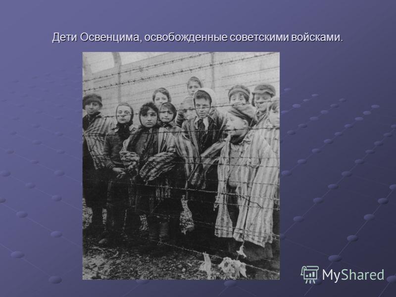 Дети Освенцима, освобожденные советскими войсками.