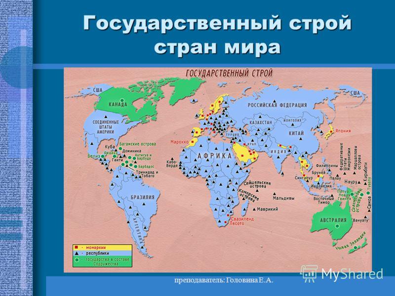 преподаватель: Головина Е.А. Развивающиеся страны Ключевые страны –Ключевые страны – Индия, Бразилия, Мексика. Они обладают большими природными, людским и экономическим потенциалом. ВВП=350 $. Страны Латинской Америки –Страны Латинской Америки – Арге