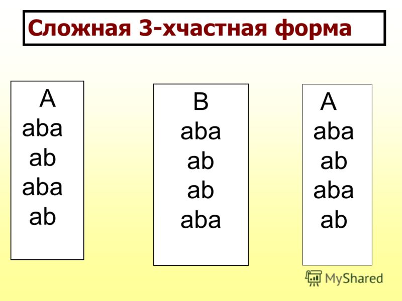 Сложная 3-хчастная форма А aba