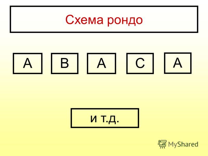 Схема рондо АВАС А и т.д.