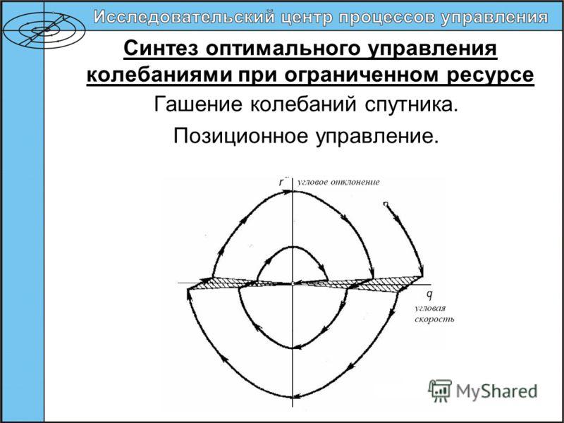 Синтез оптимального управления колебаниями при ограниченном ресурсе Гашение колебаний спутника. Позиционное управление.