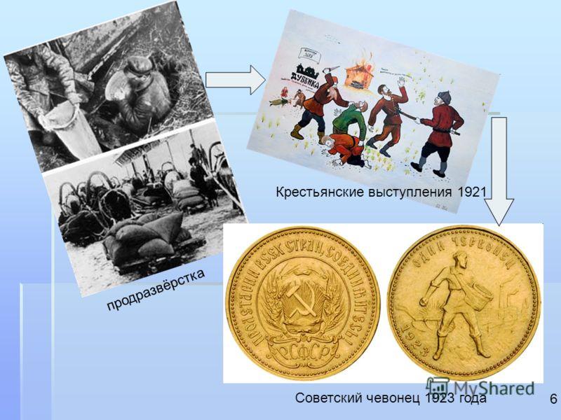 продразвёрстка Крестьянские выступления 1921 Советский чевонец 1923 года 6