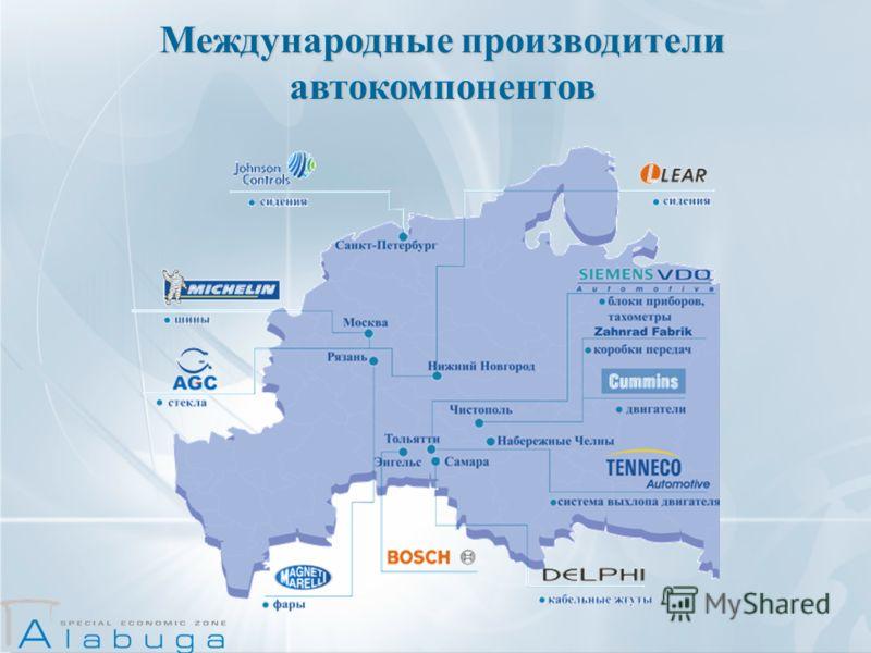 Международные производители автокомпонентов