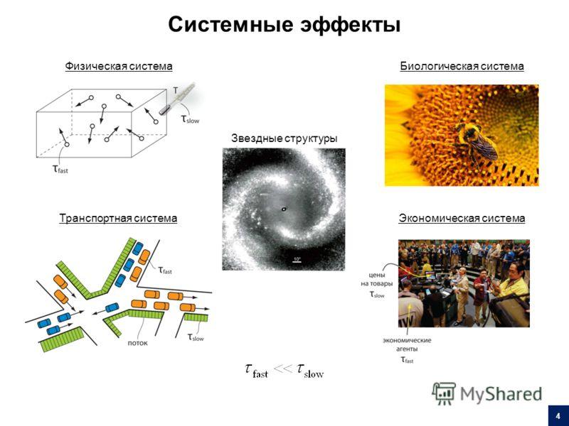 Физическая система Транспортная система Биологическая система Экономическая система Звездные структуры Системные эффекты 4