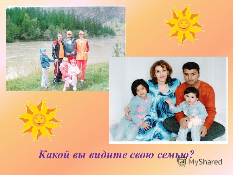 Какой вы видите свою семью ?