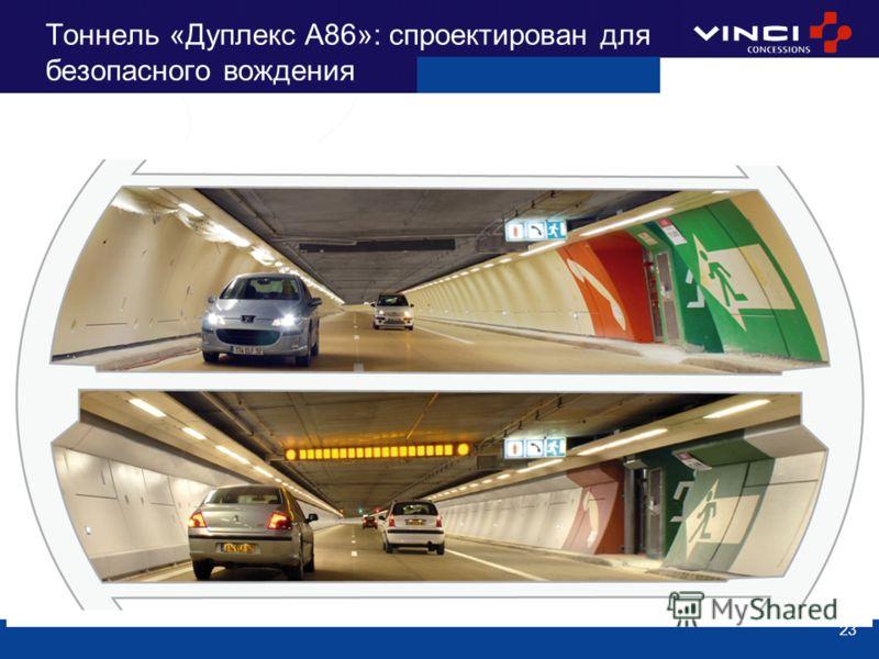 23 Тоннель «Дуплекс A86»: спроектирован для безопасного вождения