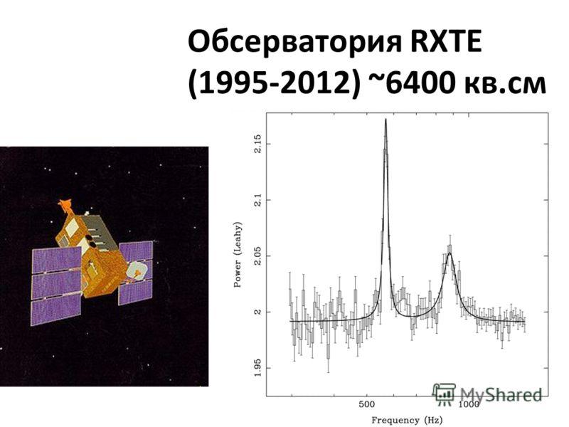Обсерватория RXTE (1995-2012) ~6400 кв.см