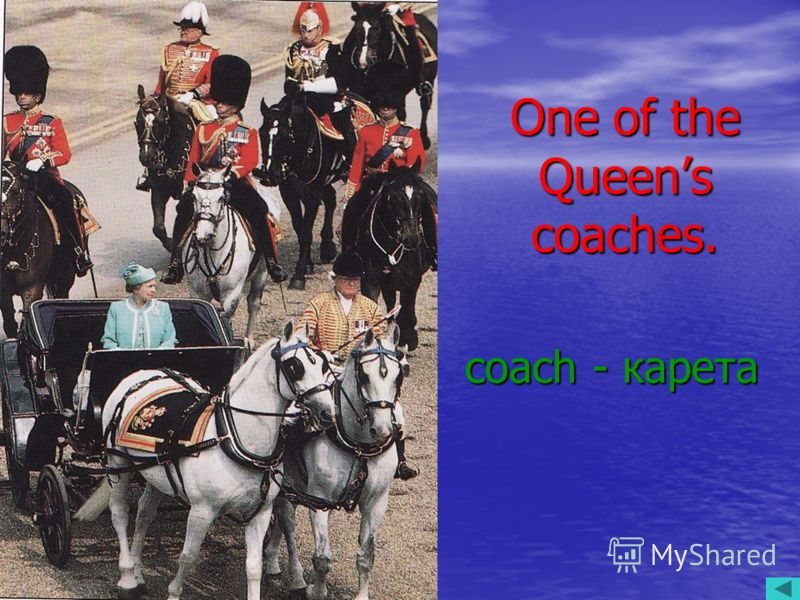 One of the Queens coaches. coach - карета