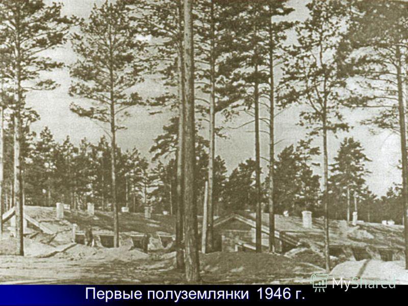 Первые полуземлянки 1946 г.