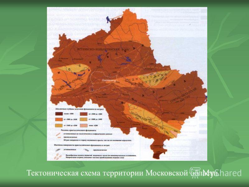 Тектоническая схема территории Московской области.